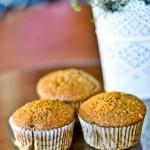 Muffiny dyniowe z mąki pęłnoziarnistej